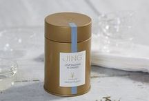 Tea Caddies / Our perfectly formed JING Gold Tea Caddy will help keep loose leaf tea fresh. (7.5cmx7.5cmx13.5cm)  Our caddies will store approximately 100g of black tea, 50g of white tea, 50g of green tea or 75g of Jasmine Pearls.