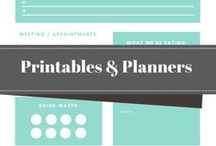 Organization Printables & Planners / Printables, planners and infographics to help you declutter your life