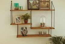 Industrial livingroom shelves / Handmade industrial shelves, in-house design and production made by steelmywood