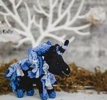 black unicorn / idea handmade toys black unicorn