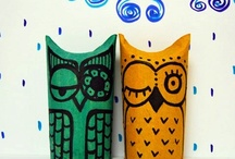 Toilet Roll Crafts / Fun kids craft with old cardboard tubes!