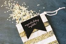 Gold Wedding Inspiration / Inspiration for weddings including gold as one of their colors!