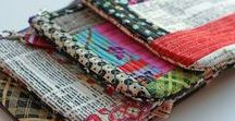 Sewing Scraps / sewing scraps, remnants, patchwork, hand stitched, heirloom sewing, reuse, upcycle, eco friendly, pieced,