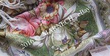 IVORY color by Pavlovo Posad Shawl Manufactory, Co