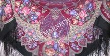 Limited edition / Discontinued Pavlovo Posad shawls / These Pavlovo Posad shawls were either removed from production or produced in a limited party