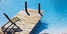 projet paillote piscine / paillote cubaine avec ponton sur pisicne