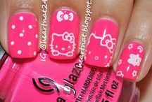 Koty: manicure_Hello Kitty