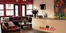 Reception area at Hostelle - Frankemaheerd location / The lounge and reception area at Hostelle - Frankemaheerd location