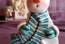 My Works - Salt Dough Snowmen Maurycy / Salt Dough Snowmen Maurycy