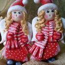 My Works - Salt Dough Angels Snowflakes / Salt Dough Angels Snowflakes