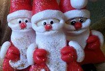 My Works - Salt Dough Santa Clauses / Salt Dough Santa Clauses