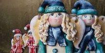 My Works - Salt Dough Winter Angels / Salt Dough Winter Angels