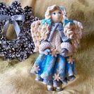Moje prace - Anioł Zimowy z masy solnej / Anioł Zimowy z masy solnej inspirowany pracami z bloga http://oliwiaart.blogspot.com