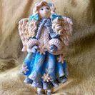 My Works - Salt Dough Angel Winter / Salt Dough Winter Angel