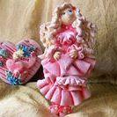 Moje prace - Anioł Walentynkowy z masy solnej / Anioł Walentynkowy z masy solnej