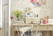 ✒️home office/craft room / Home office and craft room / by Mary Brown Schuldt