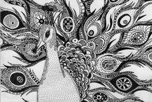 Zentangels og drawrings