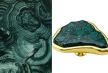 "Mad About Malachite / Named after the Greek word ""mallow"" for a green herb; Malachite is believed to be a protective stone and is referred to as 'the mirror of the soul'; It can often be found with Azurite"