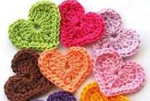 Crochet hearts / Using yarn and hook to create gorgeous hearts