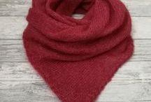 Снуды и шарфы / вязаные шарфы и снуды