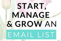 Email Marketing / Email Marketing Tips & advice to grow your email list, nurture that list, newsletter Ideas & content upgrade ideas to help you explode your list. & drive tons of traffic to your blog! #email #listbuilding #landingpages #optin