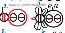 Drawing, Drawing with number, Design, Made in one line, icons, / Drawing, Design, Made in one line , animals, kreslení, návody, zvířátka, malování.