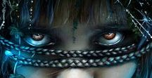 Digital Art, Illustration, by Kimsol / Digital art, drawing, illustration, dark Women, Witch, Angel, Warrior, Kimsol