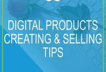 Digital Products | Creating and Selling Tips / Thinking of creating an online course, e-book, webinar or other digital products to sell on your blog or through your business website? This board rounds up the best articles from around the web to improve your digital product creation and selling game!