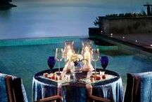 :: Dining Al Fresco :: / Pure romance is what it's all about!!!  Is there anything more lovely than spending time outdoors with someone you love deeply sharing fine wine, the best cuisine and sparkling conversation??