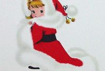 ~ Cards~Vintage Christmas Girls~ / ~Bring Back the Muff!~ / by Shelli Huss