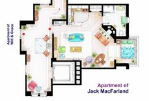 DIVERSIONS : TV ~ Set Designs, Plans and Locations / Floor Plans + Drawings + Pictures