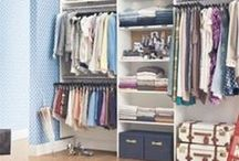 Spring Cleaning / Get your home organized with this collection of tips and tricks to #rid out your closet, #organize small spaces and #diy #storage tips!