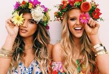 Bohemian Dreams / 'I'd rather wear flowers in my hair than diamonds around my neck.' Let your dreams take over and get carried away to your pretty floral filled fantasy.