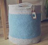 handmade crochet baskets / koszyk szydełkowy ze sznurka / made by wloczy.sie :) • www.facebook.com/wloczy.sie •