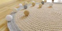 handmade crochet rug / szydełkowe dywany ze sznurka bawełnianego / made by wloczy.sie :) • www.facebook.com/wloczy.sie •