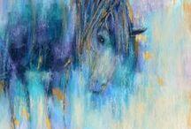 Horse Art / Horse art, acrylic horse art, soft pastel horse art, watercolour horse art, mixed media horse art