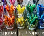 Tips for Organizing Art Supplies / art supplies, organizing art supplies, tips for art supplies