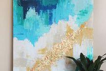 DIY Art for Your Home / DIY art for your home, DIY paintings, DIY fabric art, DIY wall art, free printable art