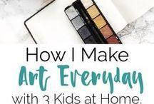 Art for Kids / art ideas for kids, art for children, create art with kids