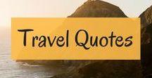 Reisezitate // Travel Quotes / Wir lieben inspirierende Reisezitate! Hier findet ihr die Schönsten!