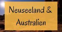 Neuseeland und Australien / Eine Reise nach Neuseeland und Australien steht ganz oben auf unserer Bucketlist. Hier sammeln wir die besten Tipps für Roadtrips, Routen, Outdoor-Abenteuer und Highlights in Down Under und Neuseeland.