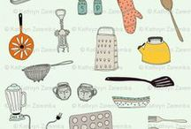 Kitchen fabrics / by Spoonflower