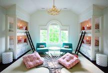 Bedroom Sharing / Bunks. Bunk beds. Kids in one bedroom.