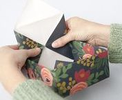 Paper Art + Crafts | Easy DIY Tutorials using Paper, Glue, and Scissors / These easy DIY paper tutorials are perfect for whipping up a quick DIY gift or party decoration in an afternoon.  All you need is some beautiful paper, some scissors, and glue.  Everything from origami gift boxes, to paper mustaches and bouquets. #paper #paperarts #papercrafts #diy #tutorial #design #gifts #diygifts #handmadegifts
