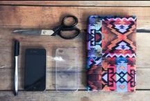 DIY Tech Accessories | Easy Tutorials for Protecting and Adorning Our Devices / These easy DIY tech accessory tutorials are perfect as gifts for the tech lover in your love!  Everything from custom printed laptop covers to hand sewn cell phone cases.  These easy sewing projects turn a simple device into a work of art with custom printed fabric or peel and stick wallpaper. #diy #tutorial #handmade #diytech #diysewing #sewingproject #sewingtutorial