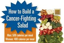 Cancer Fighting Foods & Tips / Healthy foods, recipes, checklists and tips for preventing and fighting cancer as well as foods to help with cancer treatment side effects.Remember sugar, sugar substitutes and fake foods are bad for you so try not to consume them.