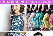 Activewear / technical fabrics, patterns, and tutorials for creating activewear and workout apparel. / by Spoonflower