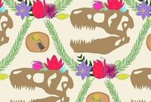 Floral Dinosaur #SFWeeklyDesign / Designs submitted for week one of our new series of weekly design prompts! Designs were submitted via any social media platform using hashtag #SFWeeklyPrompt