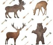 Mountain Animal Designs / Inspiration for the Mountain Animal Design Challenge with Bucketfeet X Spoonflower