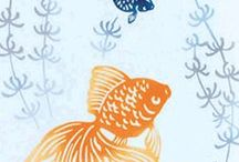 Aquatic Animal Designs / Inspiration for the Aquatic Animals Design Challenge with Bucketfeet X Spoonflower